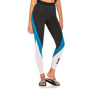 Ivy Park leggings in black & lilac sz M